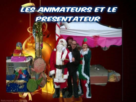 Les animateurs et le presentateur